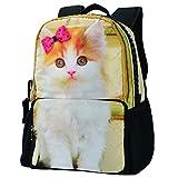 Mochila escolar, cremallera, muchos bolsillos, diseño de animal BBP112 mediano