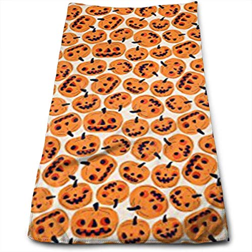otton Happy Halloween Plaid Dish Towels,Oversized Kitchen Towels for Drying,Cleaning,Cooking, Baking 30 x 70cm ()