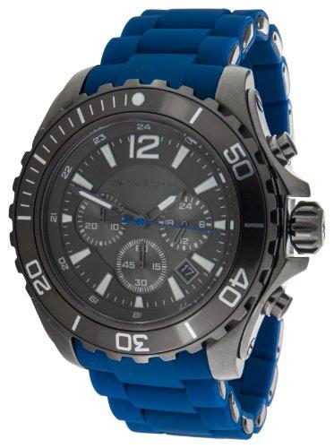 Micheal Kors Herren-Armbanduhr XL Analog Quarz Silikon MK8233