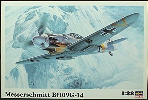 Hasegawa 1/32 Messerschmitt Bf109G14 Luftwaffe Fighter Kit by Hasegawa