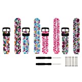 Fit-power - Bracelet de remplacement pour Garmin Forerunner 220/230/235/620/630/735XT - Taille unique, Pack of 4-StyleB