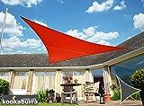 Kookaburra Wasserfest Sonnensegel 5,0m Dreieck Rot