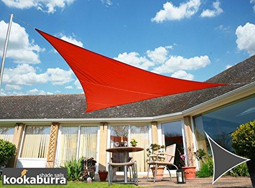 Kookaburra Wasserfest Sonnensegel 3,6m Dreieck Rot