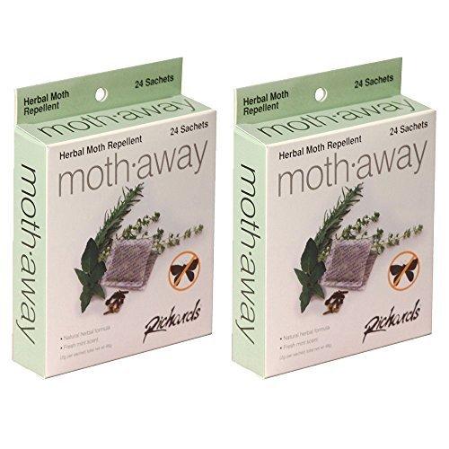 Moth Away sachets – non toxique – Lot de 48 (Blanc) (48 sachets)