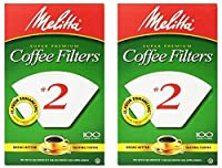 Melitta USA INC 622712 Cone Coffee Filters 100 Count - No. 2 - 2 Pack