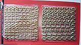 Wachsdekor , Buchstaben und Zahlen in gold , A-Z, 90 Buchstaben, 0-9 =68Ziffern , Buchstaben 10 x 2 mm , Zahlen 14 x 2 mm in gold.