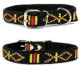 Lovely Lauri Strapazierfähiges Nylon Hunde Halsband Native Look Große Hunderassen L XL XXL Bunt Schwarz L