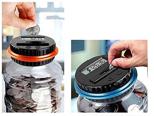 OMGO Tirelire Compteur Digital de Monnaie Affichage Additionner et Soustraire Automatique le Montant 12*22cm