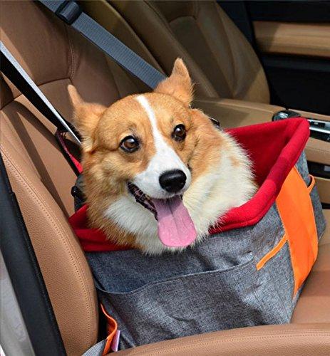 Wasserdicht Atmungsaktiv Pet Auto Matte Sicherheits Auto Sicherheitsgurt Abdeckung Booster Tasche Pet Träger Sitz Schutz Reisen Auto Kissen für Hund Katze Pet (grau) (Träger Pet-booster)