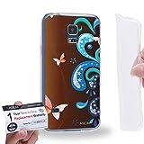 Case88 [Samsung Galaxy S5 Mini] Gel TPU Hülle / Schutzhülle & Garantiekarte - Butterfly theme DSE0223