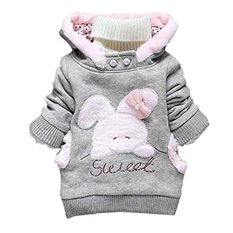 ZEARO Blumenmantel Baby Mädchen Jacke Revers Dicker Mantel Warm Wintermantel Oberbekleidung