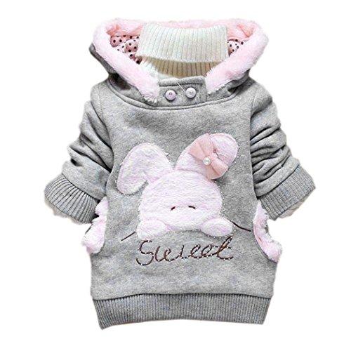 ZEARO Wintermantel Mädchen Babys Jacken Kapuzenjacke Mädchenjacke Kapuzen Kaninchenohren Baby Mantel mit Kapuze