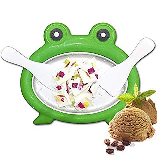 ZLKB EIS Teppanyaki Platte,Eiscreme Rollen Machine,DIY Dessert Eisjoghurt EIS-Maker Eismaschine (Frozen Dessert Teller)
