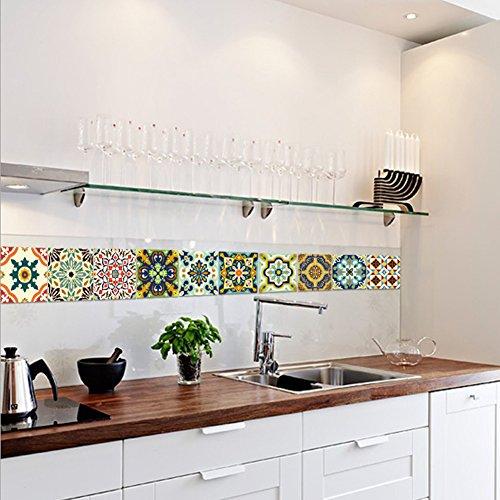 Extsud adesivi per piastrelle stile mediterraneo wall for Rivestimenti adesivi per pareti cucina
