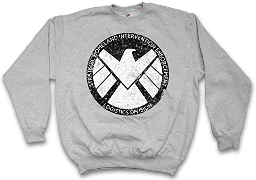S.H.I.E.L.D. VINTAGE LOGO I PULLOVER SWEATER SWEATSHIRT MAGLIONE - Nick Marvel SHIELD Fury Hydra Comic Shirt Taglie S - 5XL