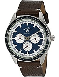 US Beverly Hills Polo Club Men's 'Beverly Hills Polo Club' Quartz Metal Casual Watch, Color:Brown (Model: 53458)