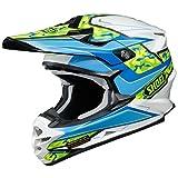 Casque Motocross Shoei Vfx-W Turmoil Tc2 Bleu (M , Bleu)