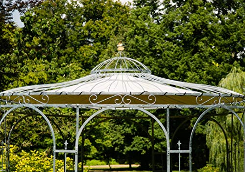 KUHEIGA Wetterfeste Dachverkleidung fuer Gartenpavillon Metall Eleganz 350cm