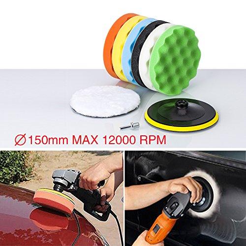 Zipom 10,2cm polissage polissage Pad Auto Voiture polissoirs et mémoires Tampons Cire Lot de 16pcs + M10kit d'adaptateur de perceuse