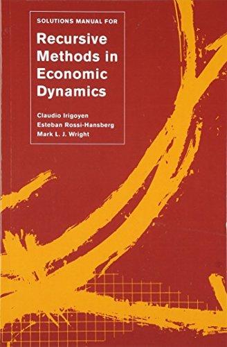 Solutions Manual for <i>Recursive Methods in Economic Dynamics</i>