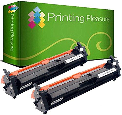 Printing pleasure 2 toner compatibili cf217a 17a [con chip] cartuccia laser per hp laserjet pro mfp m130nw m130fn m130fw m130a m102a m102w - nero, alta resa (1.600 pagine)