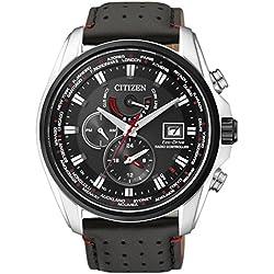 Citizen - AT9036-08E - Montre Homme - Quartz Analogique - Cadran Noir - Bracelet Cuir Noir