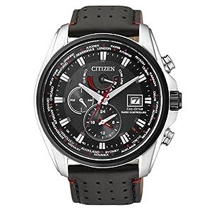 Citizen AT9036-08E – Reloj para hombres, correa de cuero, color negro