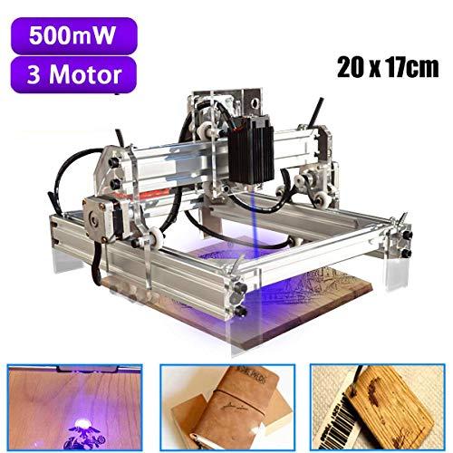 Kit de máquina de grabado de 500 mw para escritorio l-a-s-e-r, impresora de corte DIY, fresadora de madera de 20x17cm