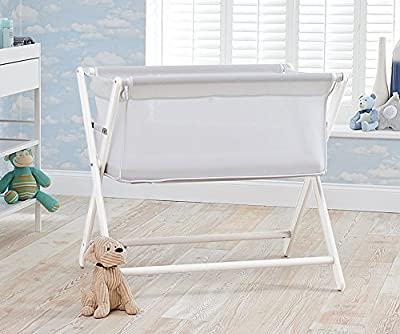 Little Chick London Breathable Bed Side Crib, Classic White