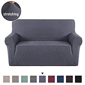 Brilliant Durable Soft High Stretch Jacquard Sofa Slipcover Couch Covers Lycra Furniture Protector Machine Washable Spandex Sofa Covers 2 Seater Charcoal Grey Bralicious Painted Fabric Chair Ideas Braliciousco