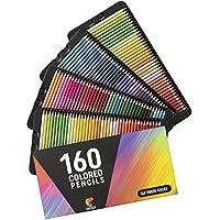 ⭐160 Crayons de Couleur (Numérotés) Zenacolor - Rangement Facile - Coffret de Crayon de Couleurs Professionel Adultes et Enfants - Idéal pour Coloriage Adulte, Mandala, Fourniture et Rentrée Scolaire