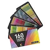 160 Lápices de Colores (Numerados) - Almacenamiento Fácil - Estuche de Lapices de Colores...