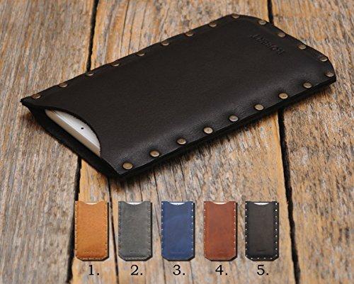 Nokia 2 3 5 6 8 150 Leder Hülle Tasche Etui Cover Case personalisiert durch Prägung mit ihrem Namen