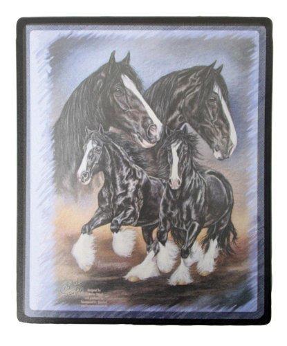 """'Eyecatcher per la vostra scrivania-Tappetino per mouse mousepad stampa con motivo cavalli """"Shire Horse nuovo (22640) collezione Bötzel"""