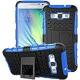 Beiuns para Samsung Galaxy A3 / A3 Duos (4,5 pulgadas,2015) Funda de Protección Hibrida Carcasa - HH502 azul
