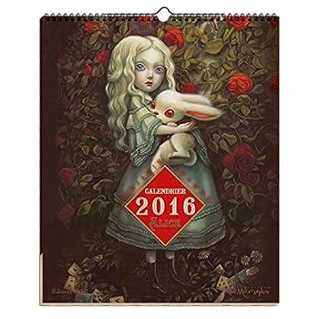Alice au pays des merveilles - Calendrier 2016