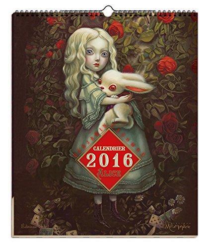 Alice au pays des merveilles, calendrier 2016 por Benjamin Lacombe