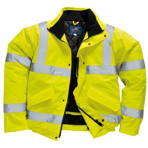 Portwest Unisex Sicherheitsgelb Bomberjacke (S463) / Arbietskleidung / Safetywear - Gelb, XXX-Large