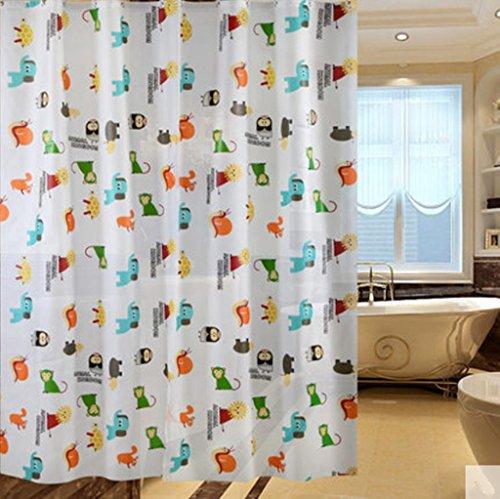 GYMNLJY Cartoon PEVA muffa impermeabile tenda doccia in plastica tagliata cortina di Bagno , (Scopo Esterno Raso)