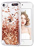 wlooo Coque pour iPod Touch 5/6/7, iPod Touch 5 Silicone Coque, iPod Touch 6 Glitter...
