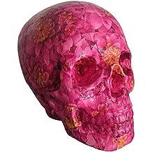 Calavera decorativa - Cráneo tamaño real - Rosa
