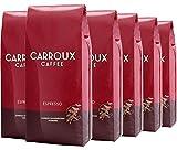 CARROUX ESPRESSO - Premium Kaffeerösterei Hamburg - Feinste geröstete Kaffeebohnen - Elegant u. intensiv im Geschmack (6 x 500 g)