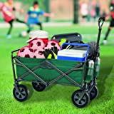 Tofasco Folding 4 Wheel Wagon Trolley Foldable Collapsible Cart