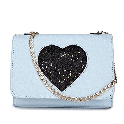 Mefly Il Nuovo Pu Piccola Borsa Pacchetto Ladies Fashion Tempo Libero Borsa Blu Cielo Sky blue