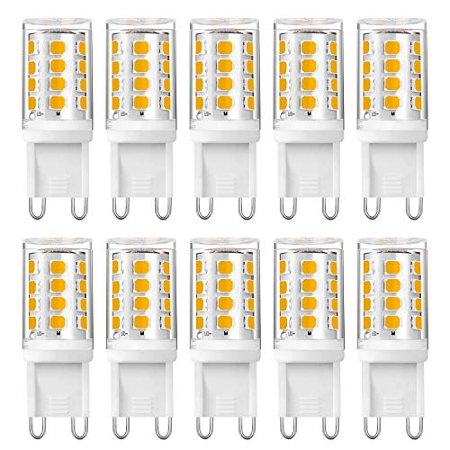 Eco.Luma Leuchtmittel G9 LED Lampe Warmweiß 3000K 4W Ersatz 25W 28W 33W 40W Halogenlampen, Nicht Dimmbar, Kein Flackern, 340LM AC 220V - 240V, 10er Pack
