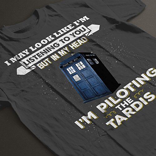 I May Look Like The Tardis Doctor Who Women's T-Shirt Charcoal
