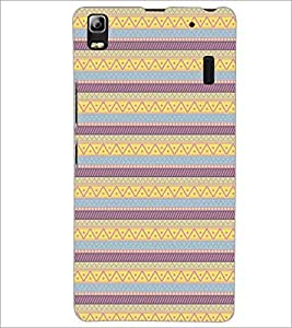 PrintDhaba Tribal Pattern D-5460 Back Case Cover for LENOVO A7000 (Multi-Coloured)