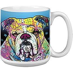 """Árbol de-free XM63195 20 oz de felicitación L-XL """"I 'm alcista"""" con diseño de barco Dean Russo de perro polvos de cerámica taza de café"""