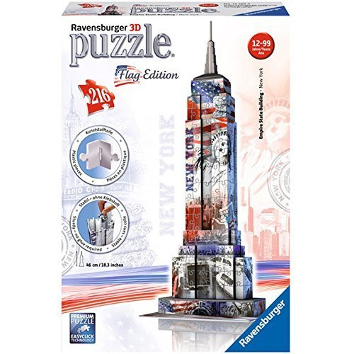 3d Flag (3D Jigsaw Puzzle - Empire State Building Flag Edition by Ravensburger)