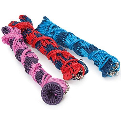 Shires–Malla para heno (1m Varios colores Multicolore - Bleu marine/Rouge
